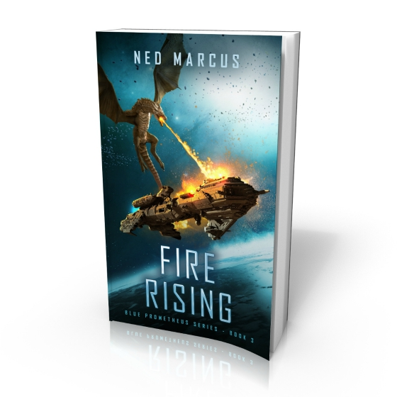 Fire Rising by Ned Marcus (cover by Damonza)