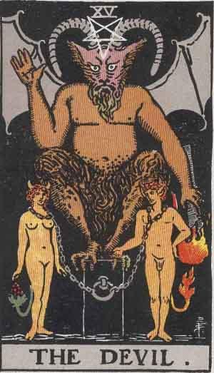 Good and Evil Quotes—Original RWS Devil Tarot
