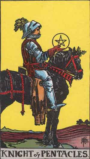 Original RWS Knight of Pentacles